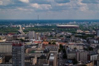 Vista panorámica de Varsovia