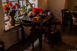 Esquina de trabajo en alguna cafetería escondida